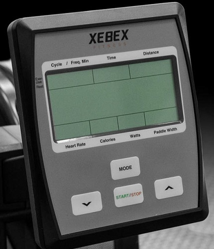 Xebex AR-1 rowing machine console and display