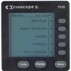 Concept2 PM5 performance monitor