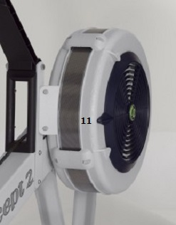 Damper setting on Concept2 set to 11