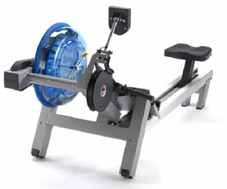 FIrst Degree Evolution rowing machine - angled view