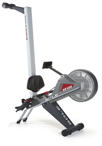 Sole SR500 rowing machine folded