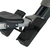 The footrests on the Bladez Transom rowing machine