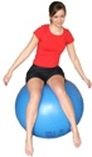 balance test - girl on a swiss ball