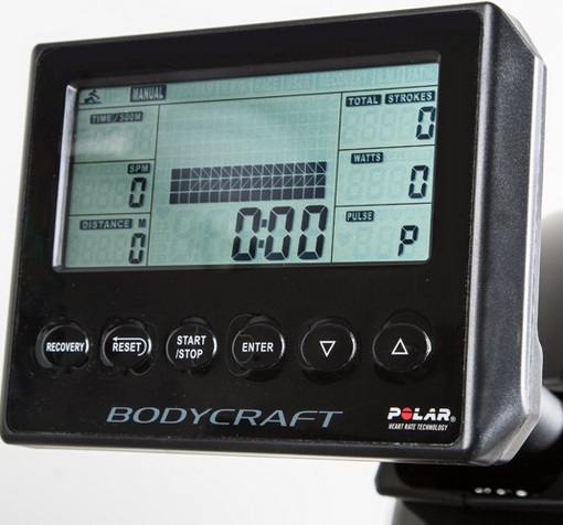 The BodyCraft VR400 ProLCD display