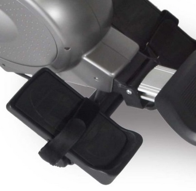 Foot rests on the Bladez Cascade rowing machine