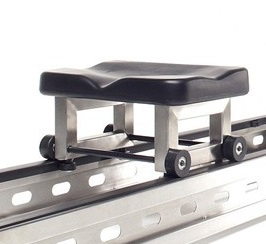 The seat on the WaterRower S1 rowing machine