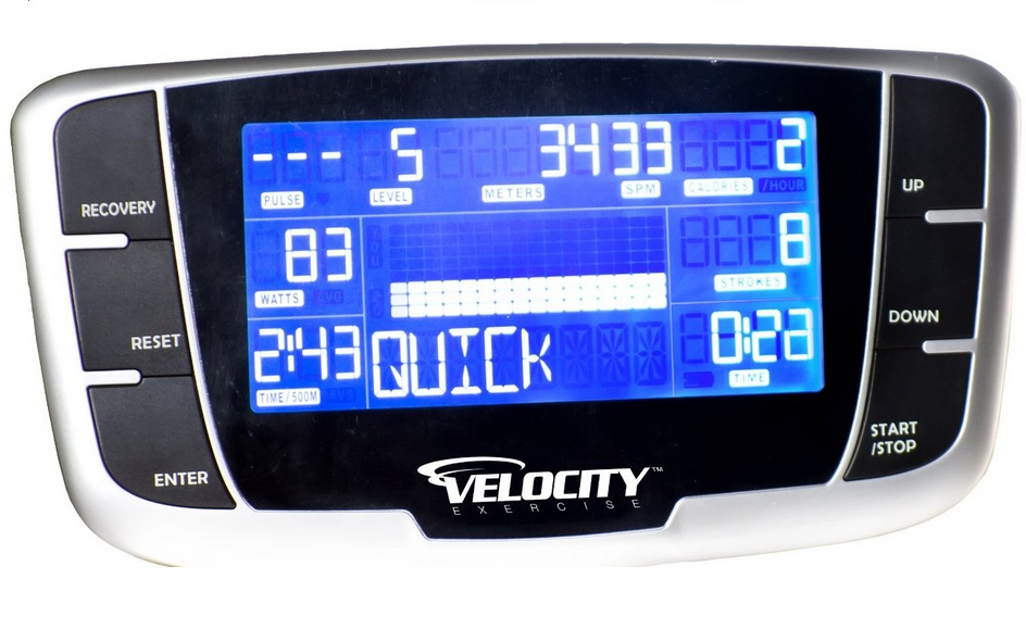 Velocity Vantage backlit LCD display