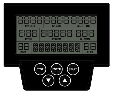 Conquer Indoor Magnetic Rowing Machine monitor and display