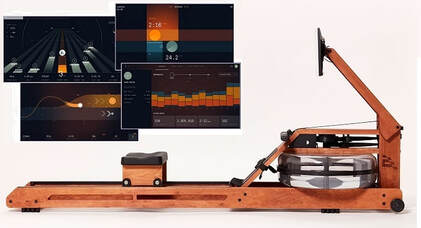 The Ergatta rowing machine - side view