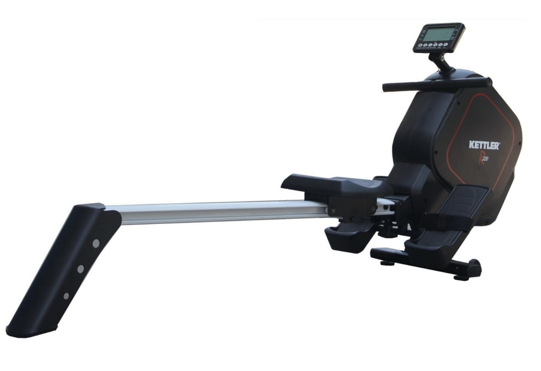 Kettler R220 rowing machine - side view