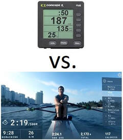 Concept2 PM5 monitor vs Hydrow Screen
