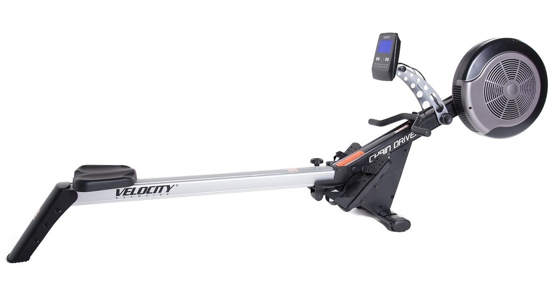 Velocity Fitness CHR-301 Rowing Machine in silver