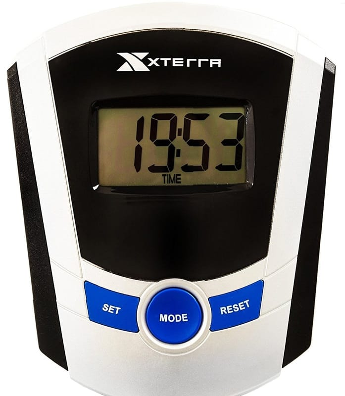 LCD display on Xterra ERG200 rowing machine